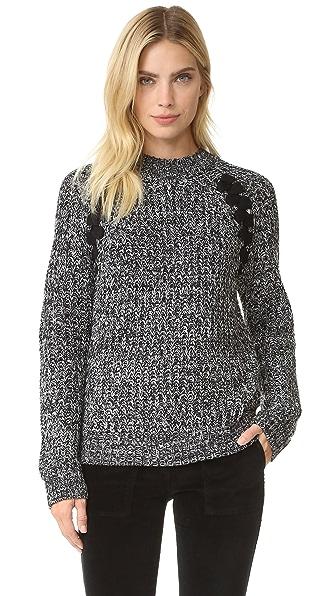 J.O.A. Lace Up Sweater