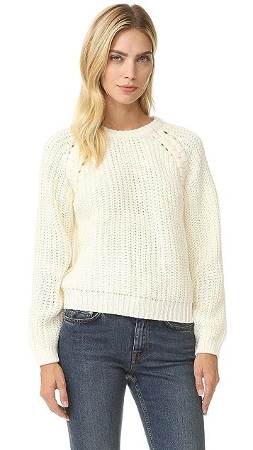 J.O.A. Lace Up Side Sweater