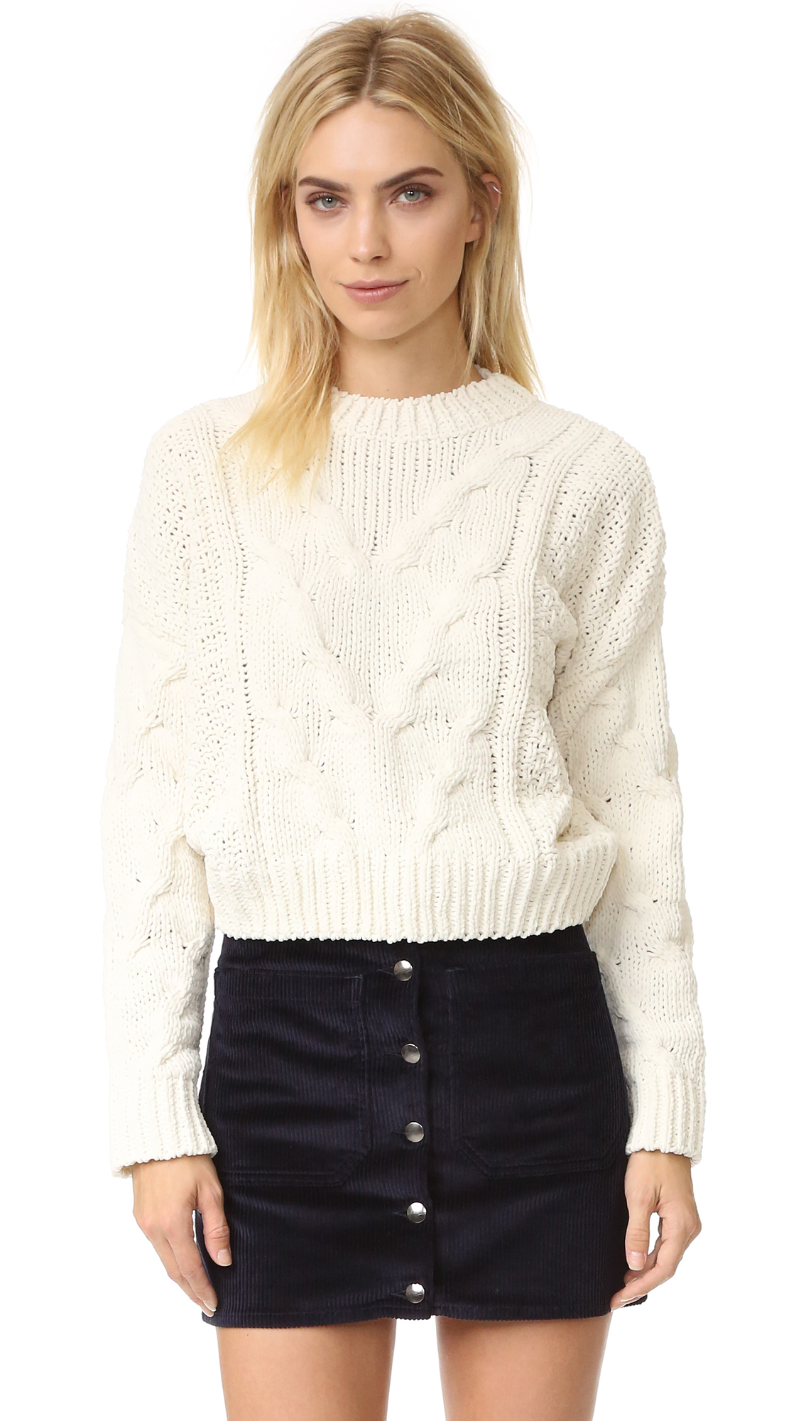 29783abf82d0 J.O.A. Cable Crew Sweater | SHOPBOP