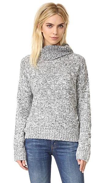 J.O.A. Marled Turtleneck Sweater