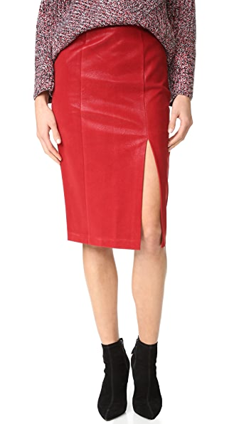 J.O.A. Faux Leather Skirt