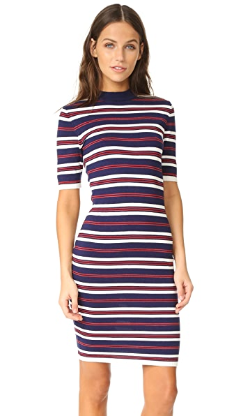 J.O.A. Stripe Dress - Navy/White/Red