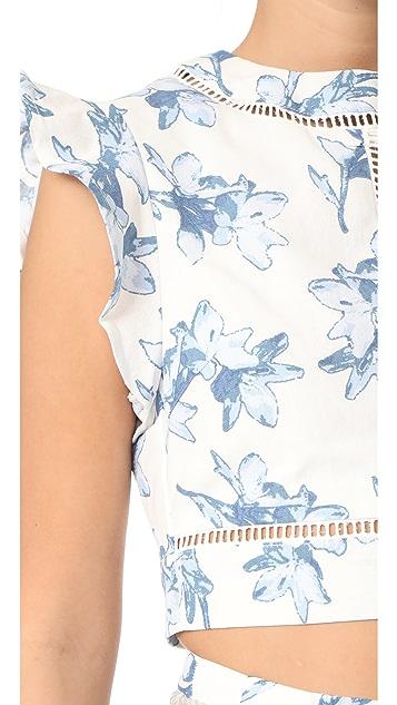 J.O.A. Flower Print Crop Top