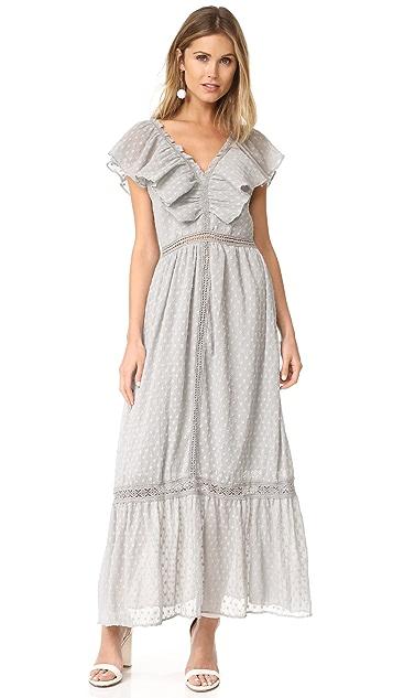 J.O.A. Swiss Dot Maxi Dress