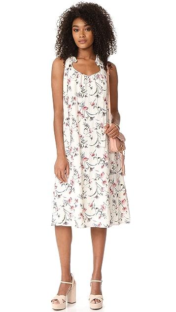 J.O.A. Flower Print Maxi Dress