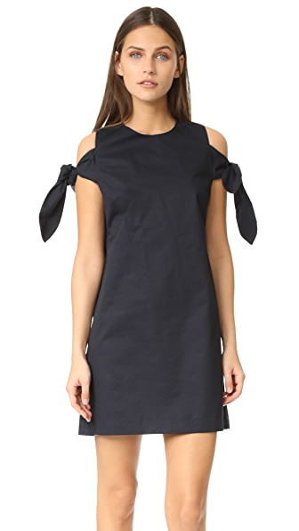 J.O.A. Knot Sleeve Dress - Navy