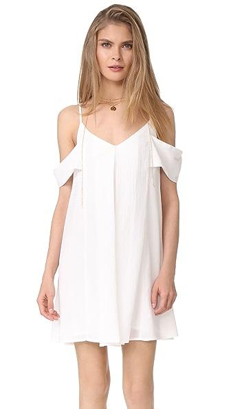 J.O.A. Cold Shoulder Dress - White