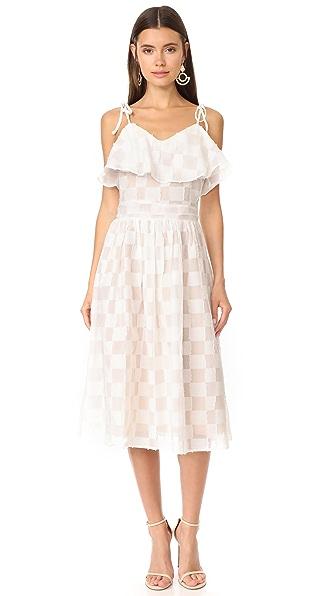J.O.A. Ruffle Dress - White