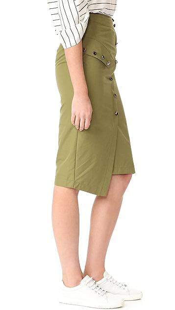 J.O.A. Button Down Skirt