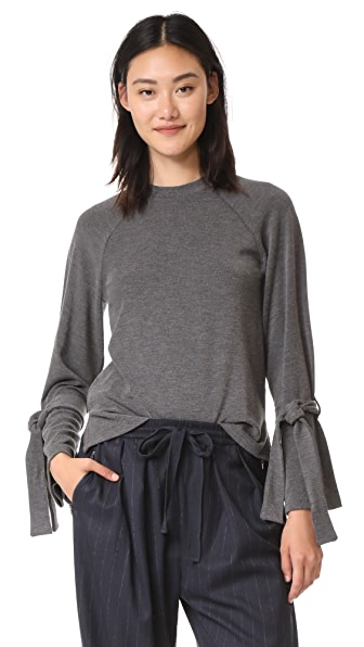 J.O.A. Tie Pullover - Charcoal