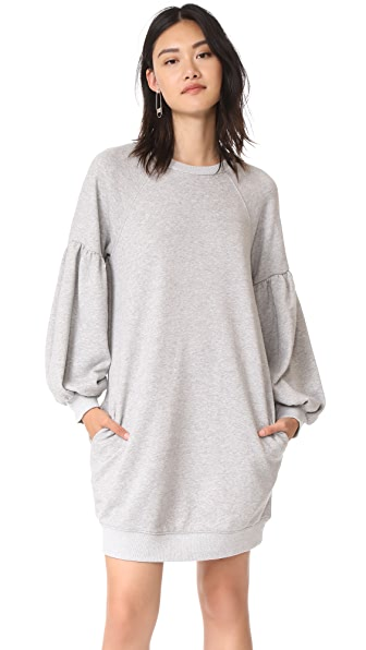 J.O.A. Sweatshirt Dress - Heather Grey