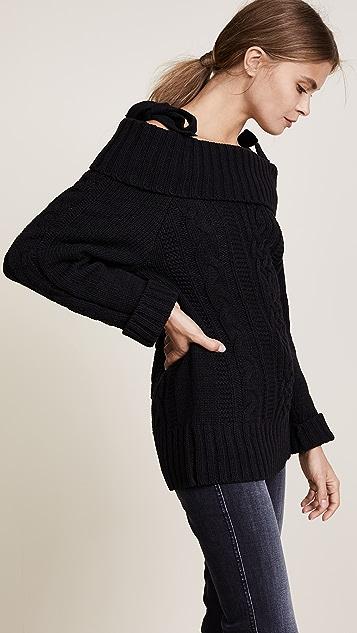 J.O.A. Cold Shoulder Sweater