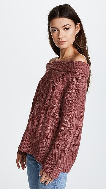 J.O.A. Off Shoulder Sweater
