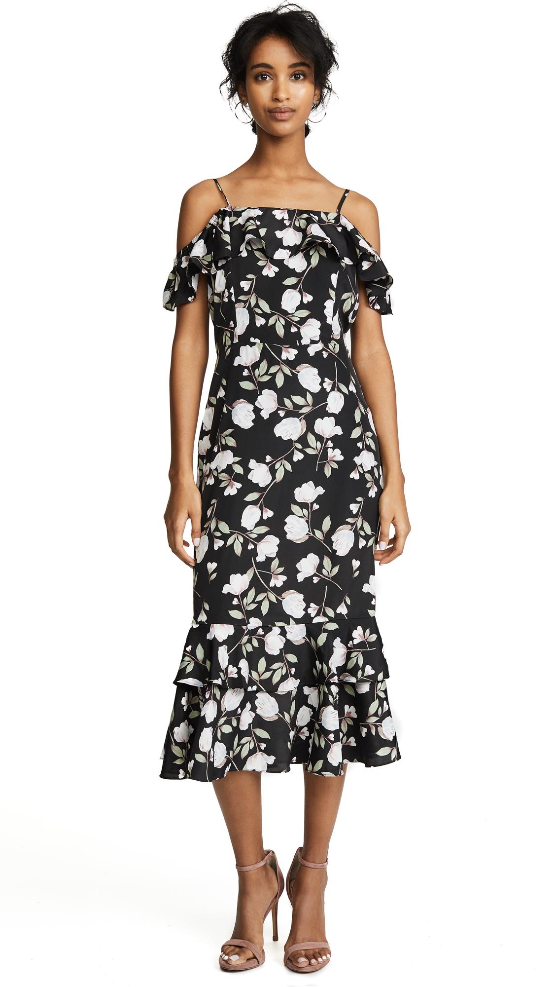 J.O.A. Floral Dress In Black Floral