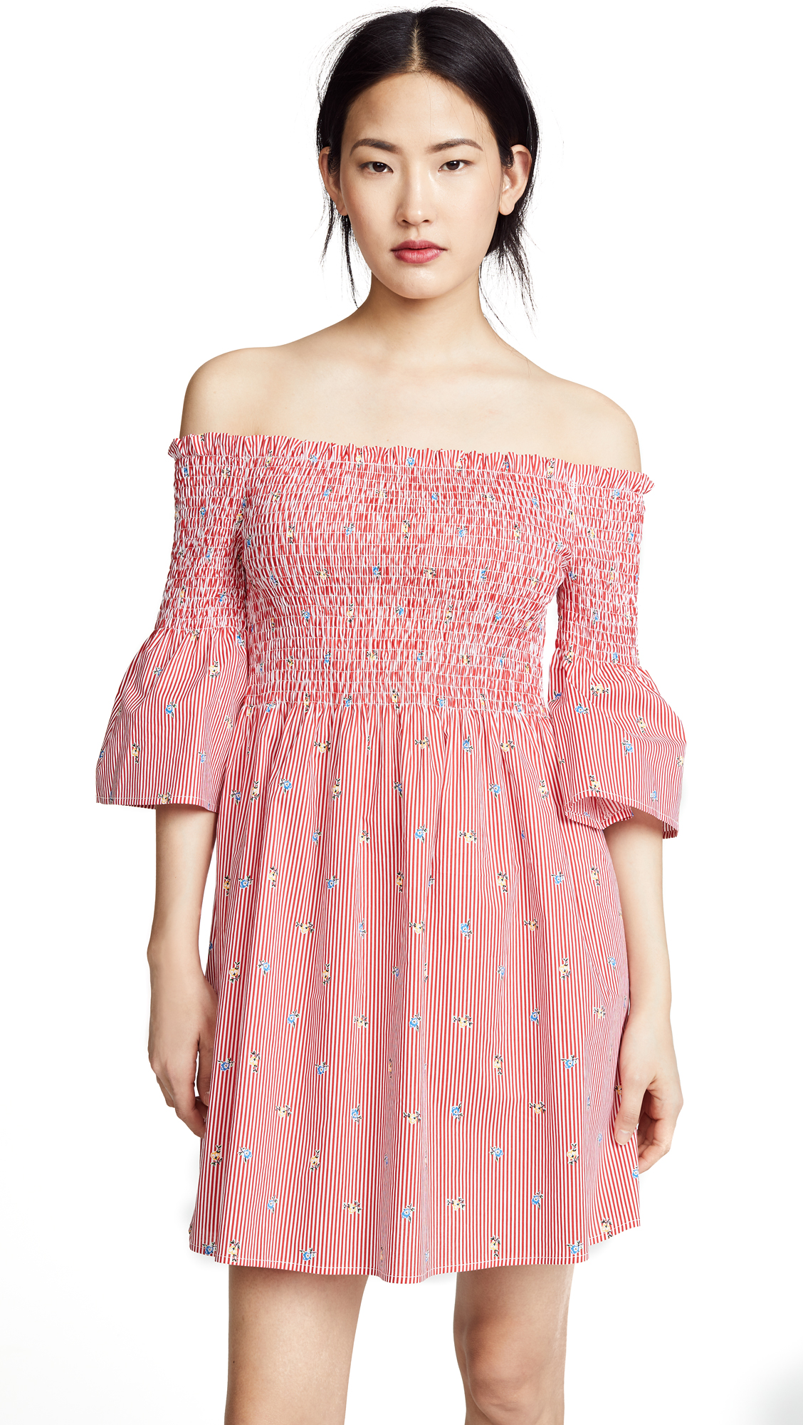 J.O.A. Smocked Stripe Dress