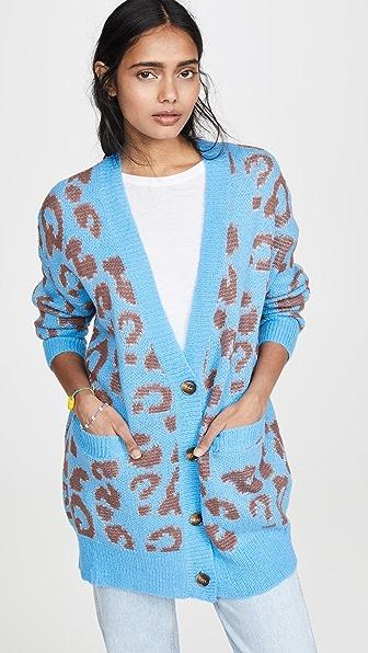 J.O.A. Leopard Knit Cardigan