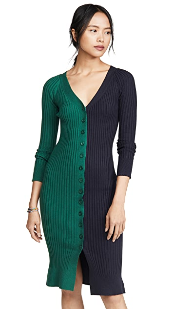 J.O.A. Colorblock Sweater Dress