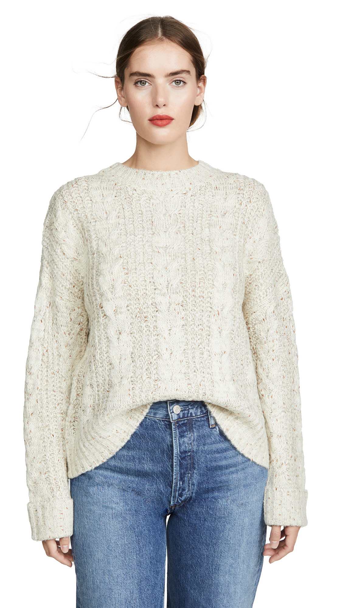 Buy J.O.A. online - photo of J.O.A. Cable Knit Sweater