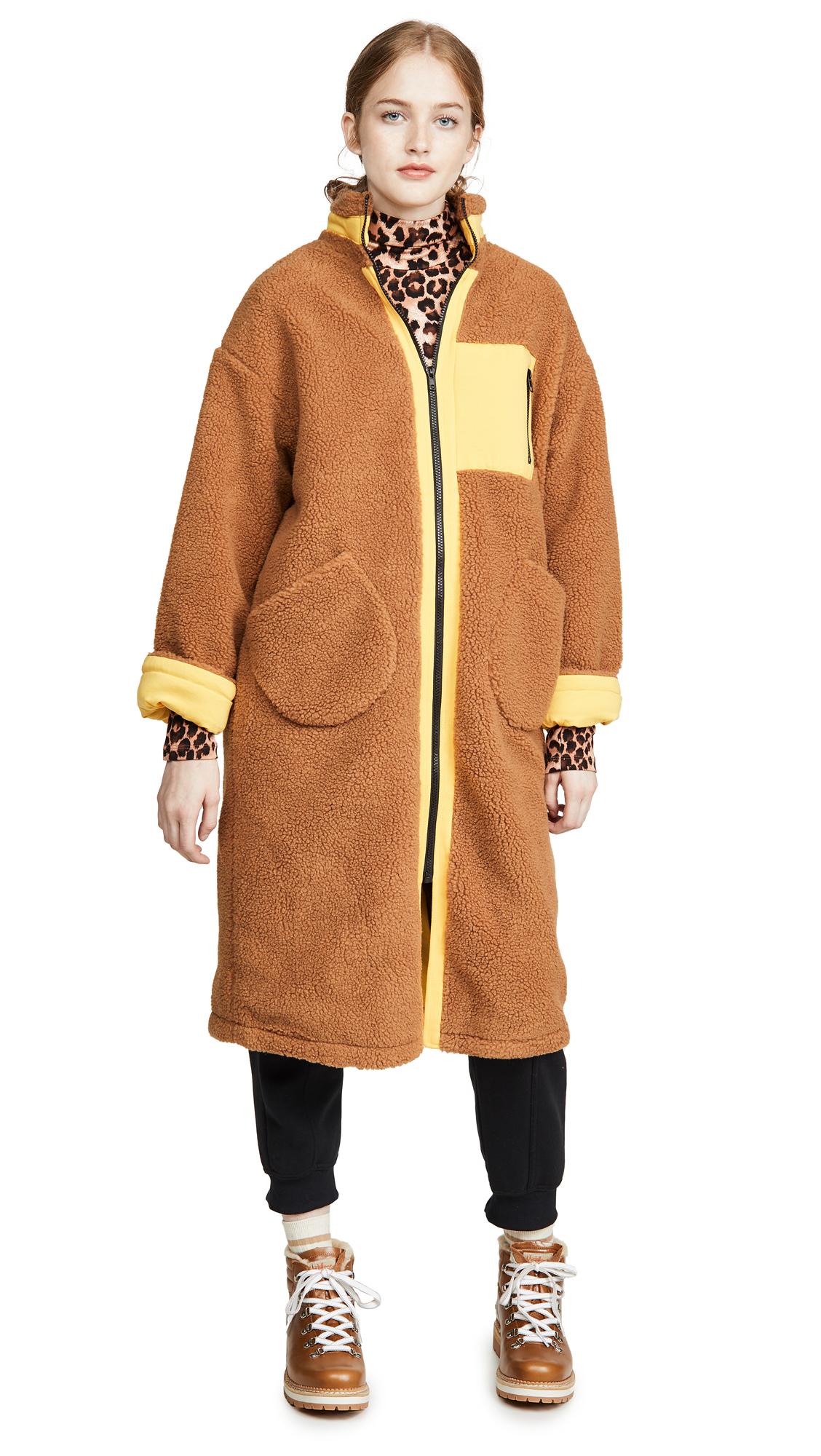 Buy J.O.A. online - photo of J.O.A. Zip Up Long Teddy Jacket