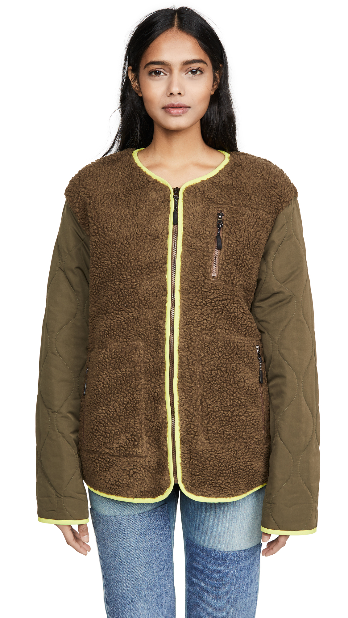 Buy J.O.A. Khaki Jacket online beautiful J.O.A. Jackets, Coats, Down Jackets
