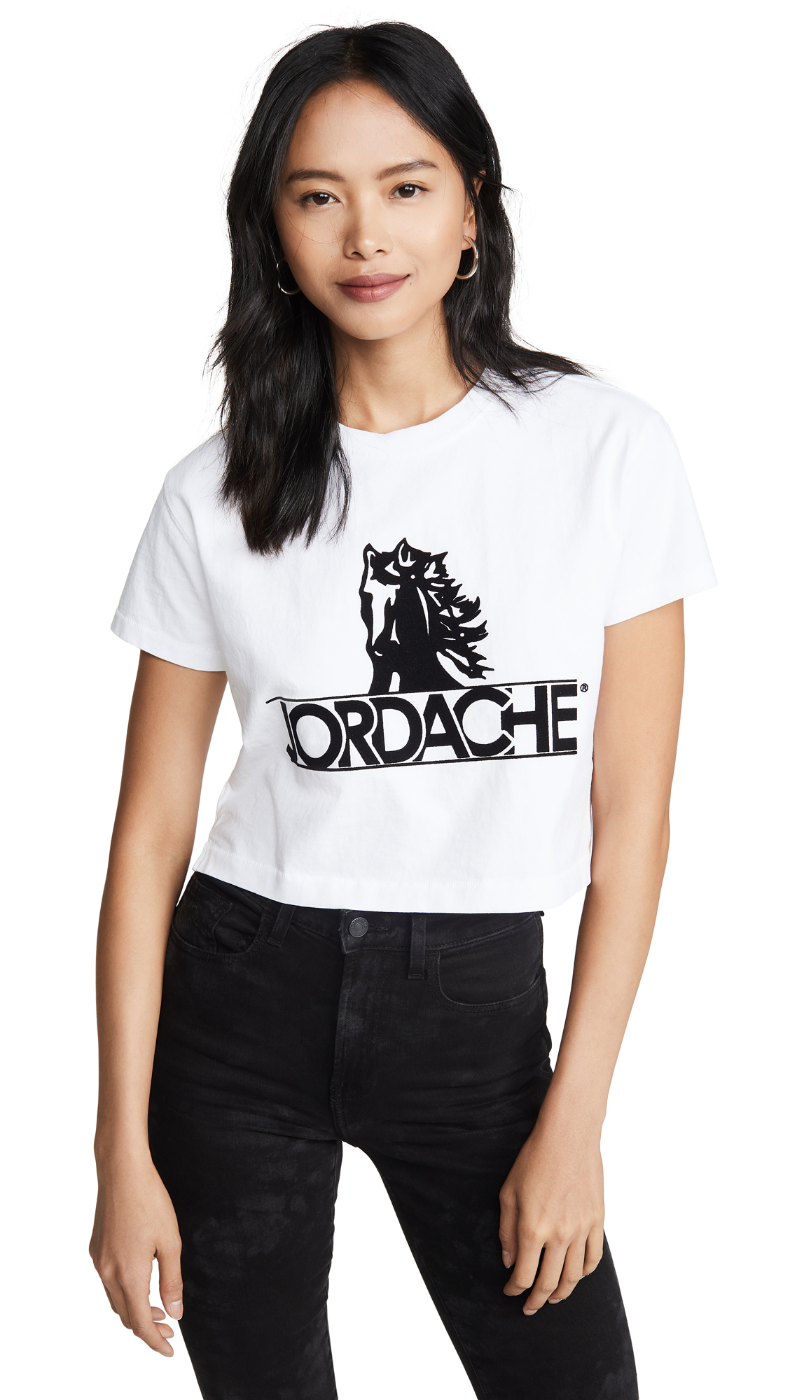 Buy Jordache online - photo of Jordache Crop Horse Logo Tee