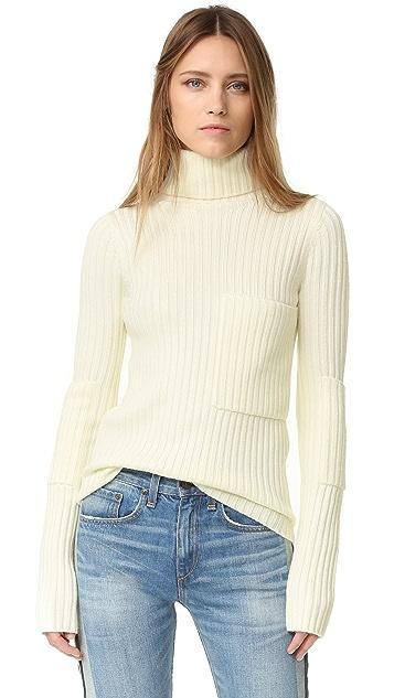 Joseph High Neck Ribbed Sweater