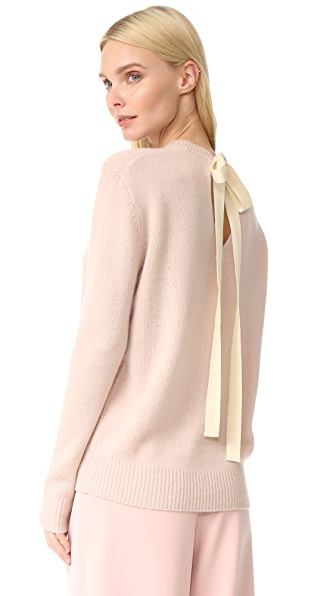 Joseph Tie Back Crew Neck Cashmere Sweater