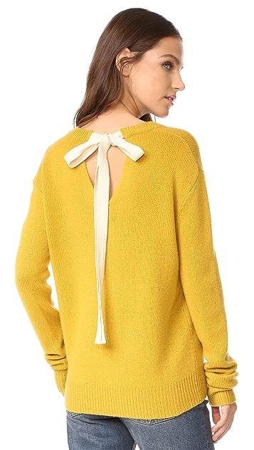 Joseph Tie Back V Neck Cashmere Sweater