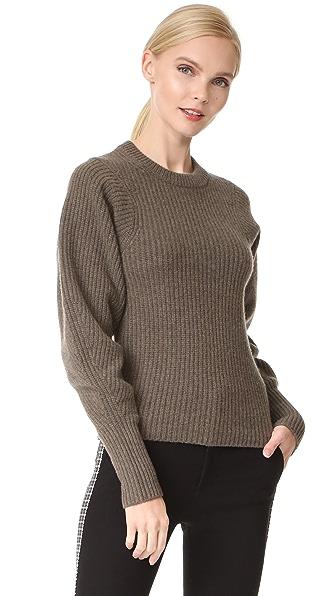 Joseph Round Neck Large Sleeves Sweater at Shopbop