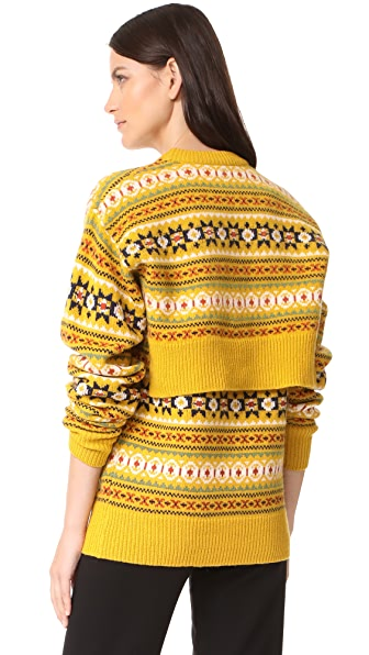 Joseph Round Neck Double Sweater - Yolk