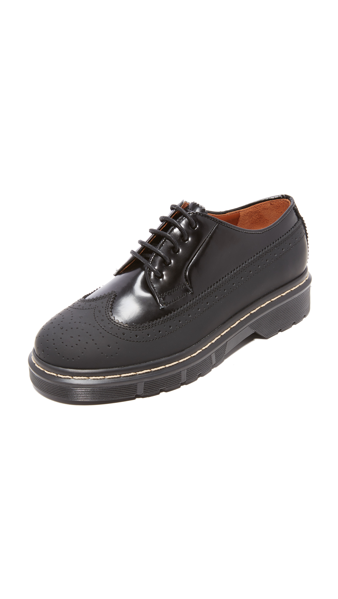 Joseph Dennis Rubber Brogue Shoes - Nero
