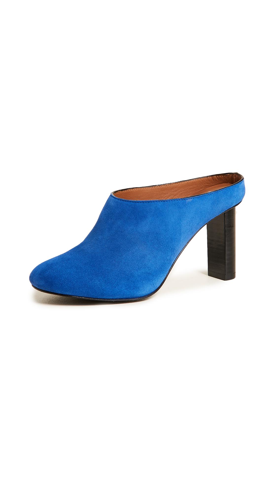 Joseph High Bardot Mules In Bright Blue