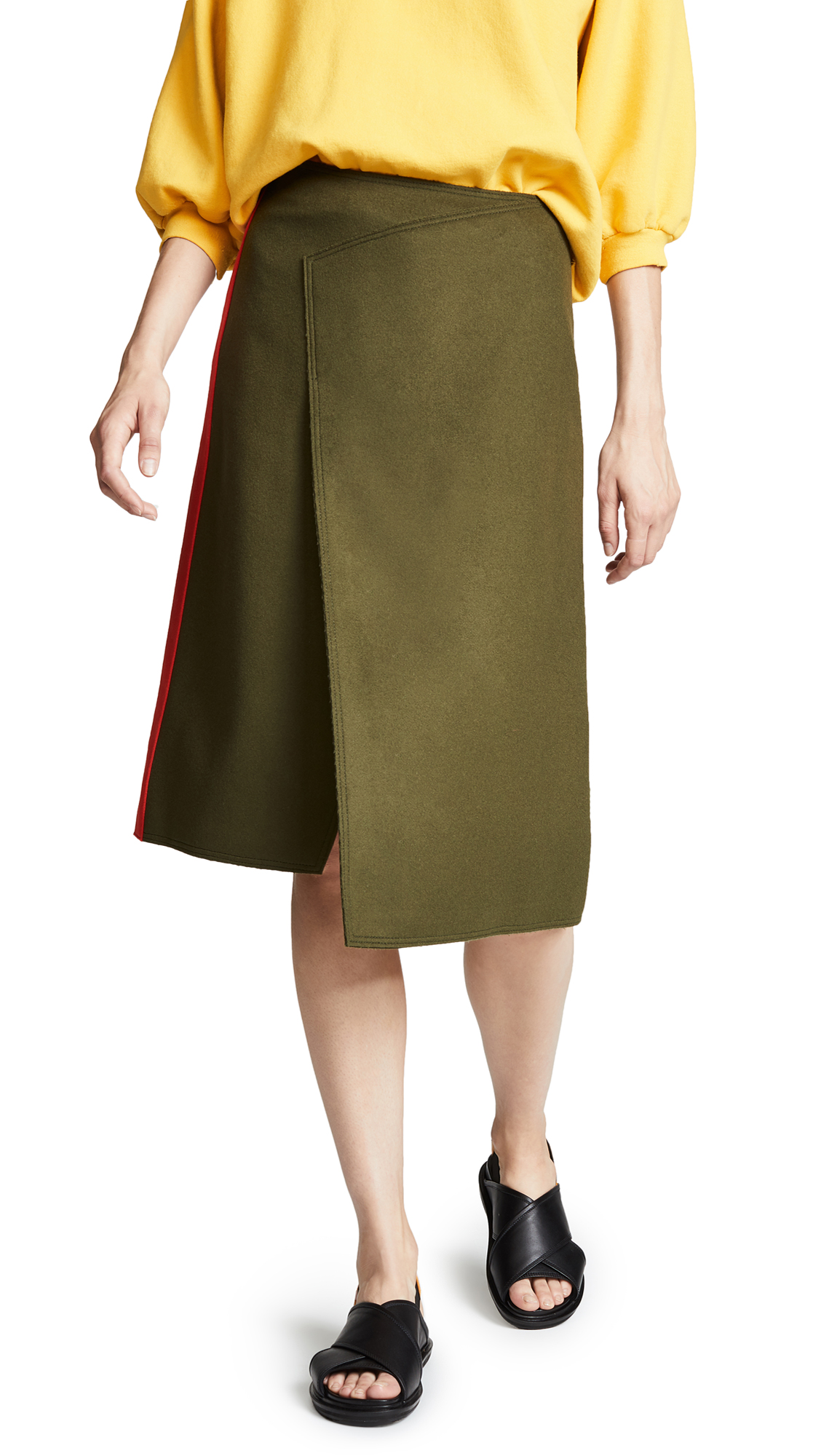 Joseph Page Skirt In Military