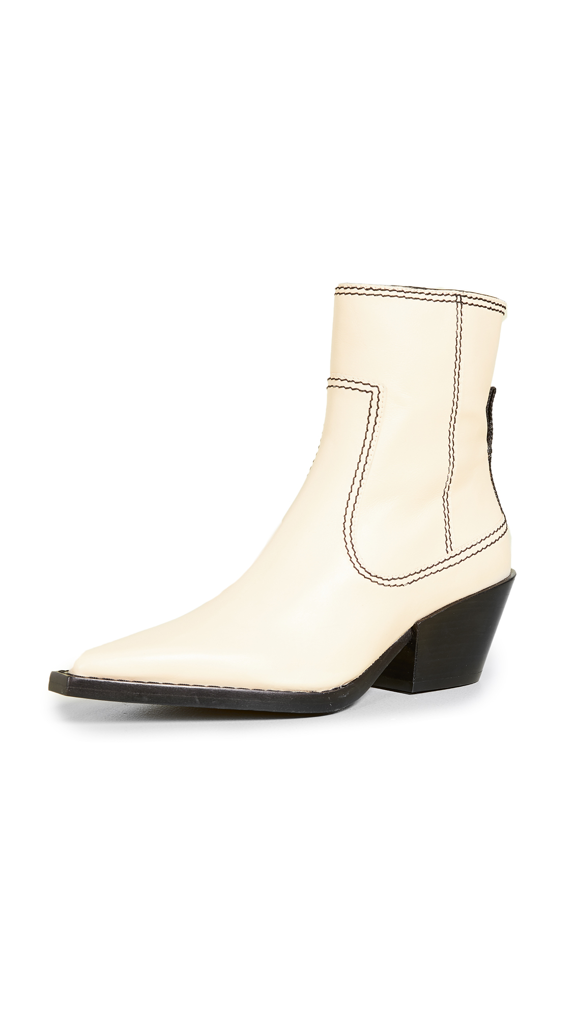 Joseph Rodeo Ankle Boots - Ecru