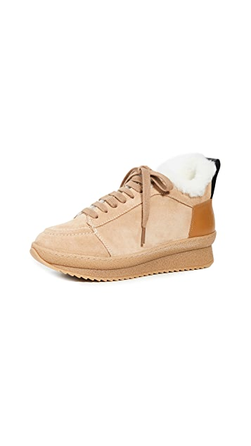 Joseph Crosta Crepe Shearling Low Booties