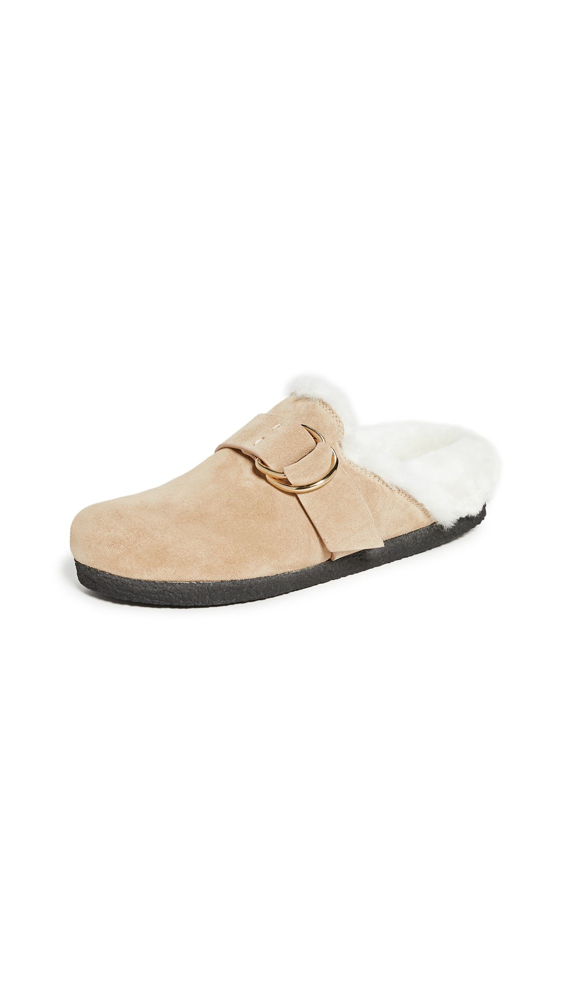 Joseph New Mugello Shearling Mules In Biscotto