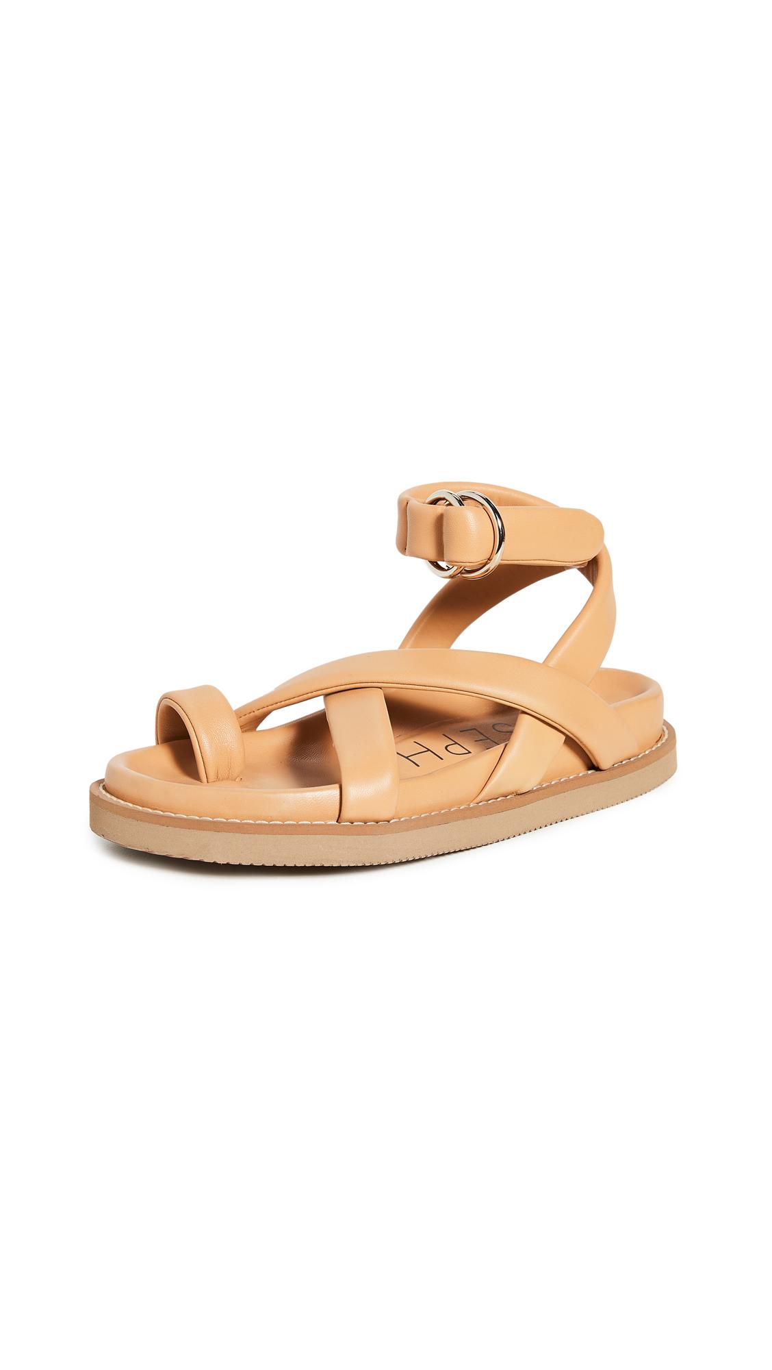 Buy Joseph Thin Leather Wrap Sandals online, shop Joseph