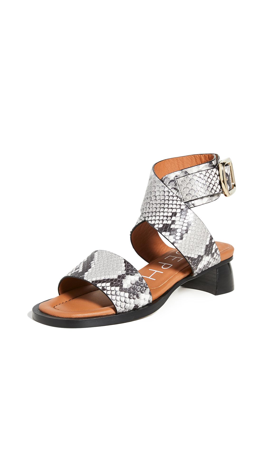 Buy Joseph Block Heel Wrap Sandals online, shop Joseph