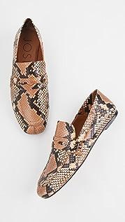 Joseph 蛇皮浅口船鞋乐福鞋