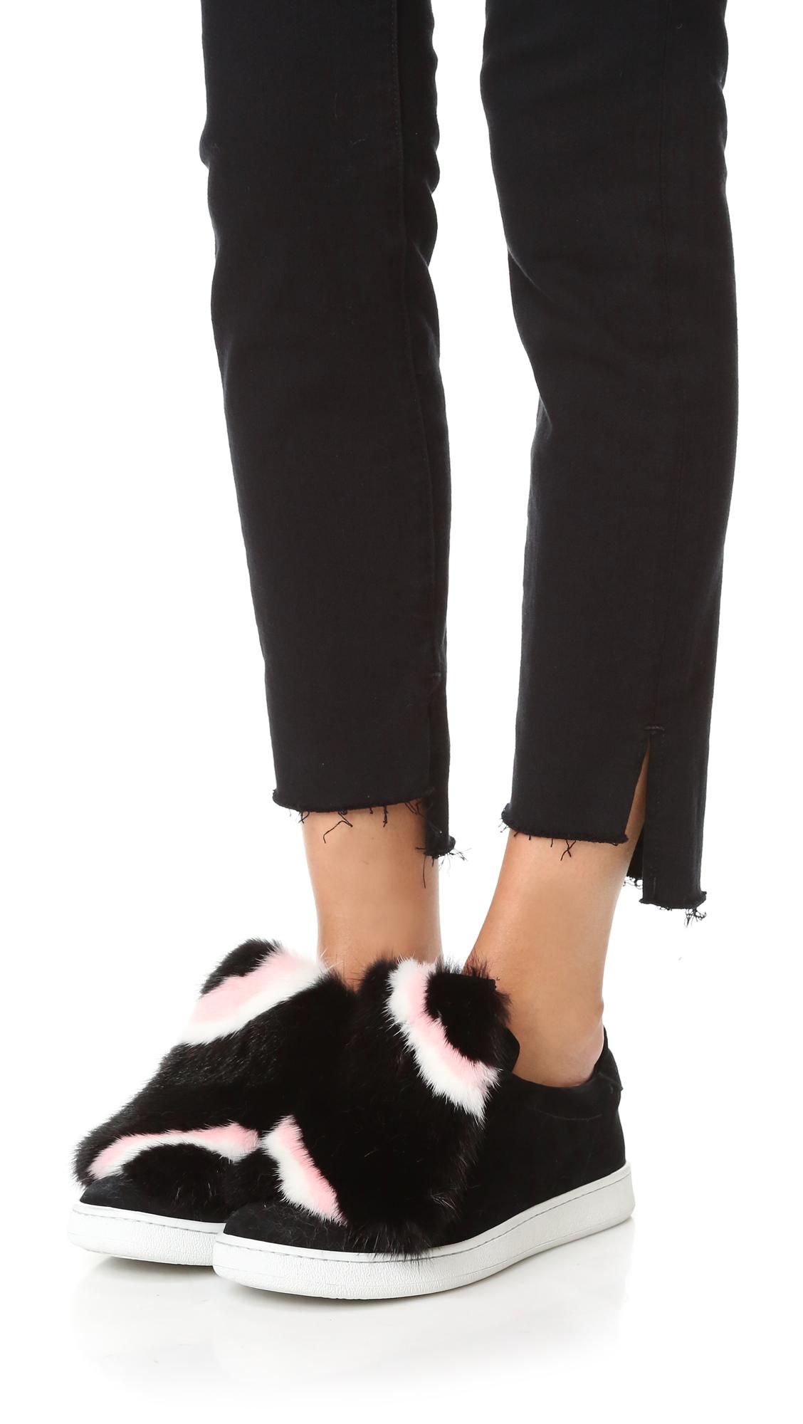 f447f83813 Joshua Sanders Fur Fringe Sneakers