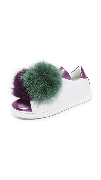 Joshua Sanders Pom Pom Fox Sneakers