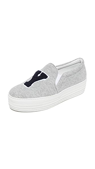 Joshua Sanders NY Slip On Sneakers In Grey