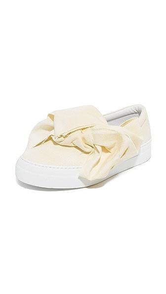 Joshua Sanders Bow Slip On Sneakers - Ivory