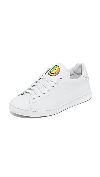Joshua Sanders Rainbow Smile Sneakers - White