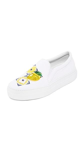 Joshua Sanders Capri Slip On Sneakers - White