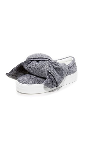 Joshua Sanders Lurex Bow Sneakers - Grey
