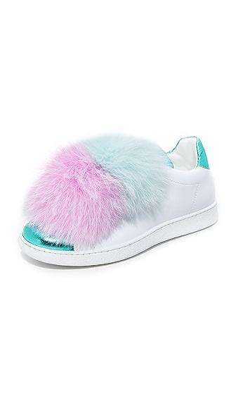 Joshua Sanders Pom Pom Sneakers - Cotton Candy
