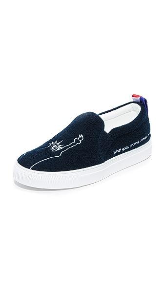 Joshua Sanders New York Slip On Sneakers - Blue