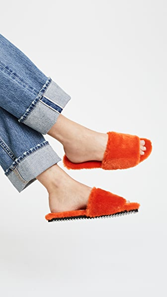 Joshua Sanders Eco Faux Fur Slides