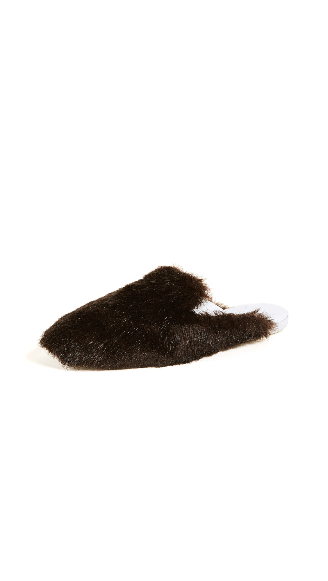 Joshua Sanders Eco Fur Mules - Brown